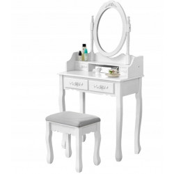 Toaletka kosmetyczna + taboret