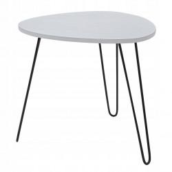 Stolik kawowy loft biały L