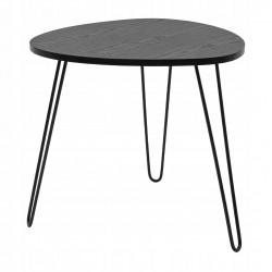 Stolik kawowy loft czarny M