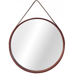 Okrągłe drewniane lustro na...