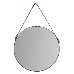 Okrągłe lustro z czarną...