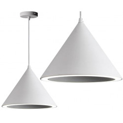 Lampa wisząca stożek LED biała