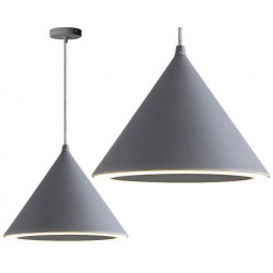 Lampa wisząca stożek LED szara