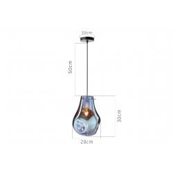Szklana lampa sufitowa Amber