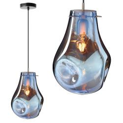 Szklana lampa sufitowa Blue