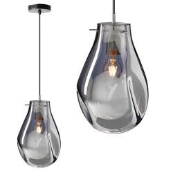 Szklana lampa sufitowa Silver