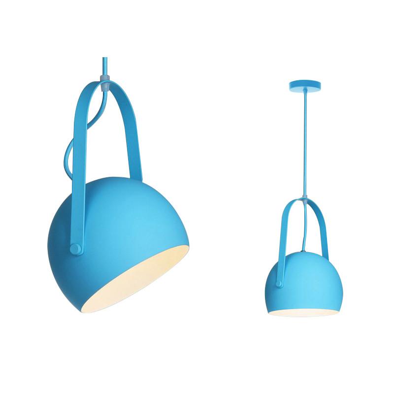 Lampa Sufitowa wisząca kula Niebieska