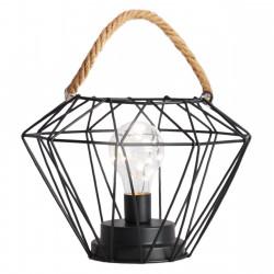 Lampka nocna na sznurku czarna