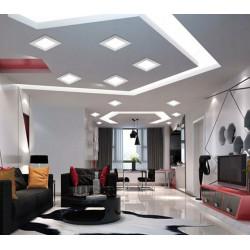 Panel LED natynkowy kwadratowy biały 18W