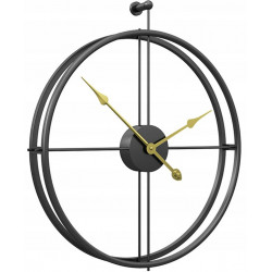 Zegar ścienny 3D czarny +...