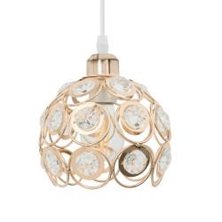 Lampa Sufitowa Wisząca Złota Kryształki