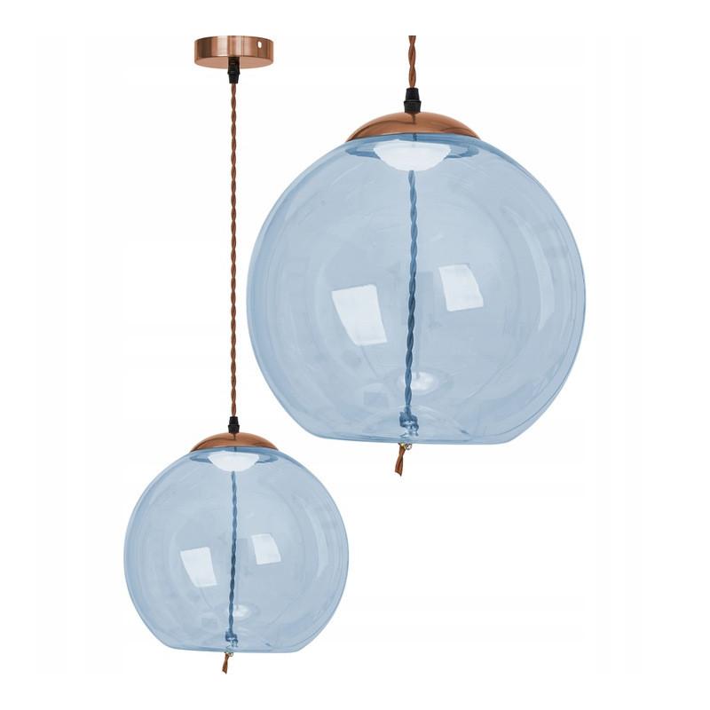 Lampa LED Szklana kula Niebieska