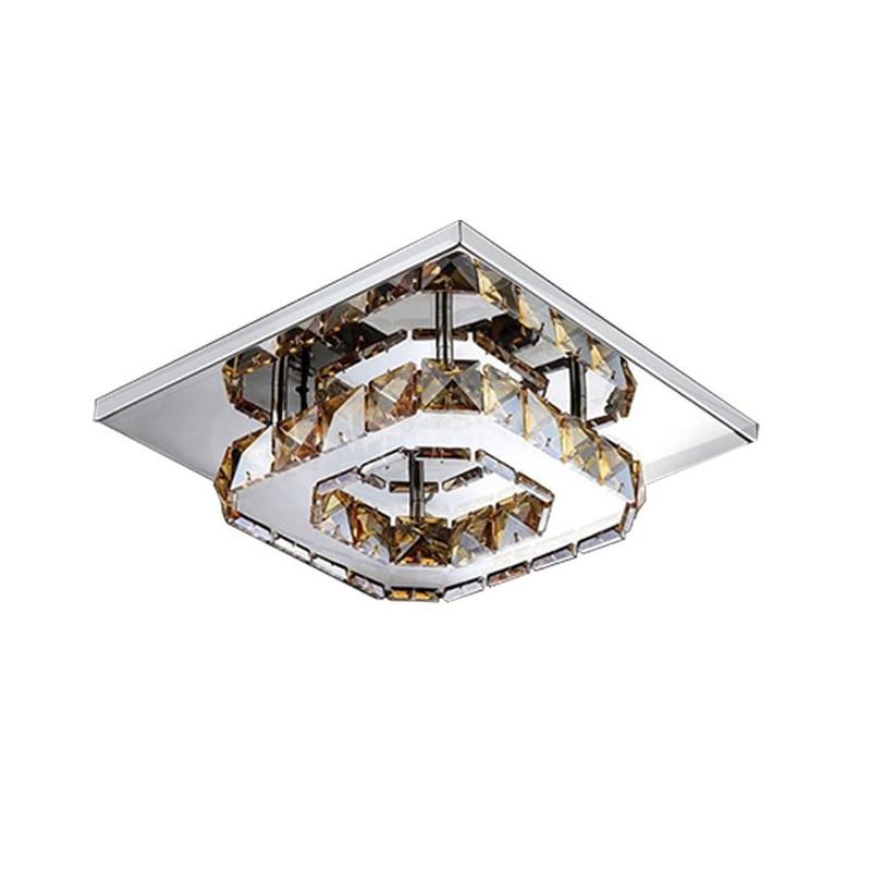 Lampa Sufitowa Kryształowa Plafon barwa ciepła
