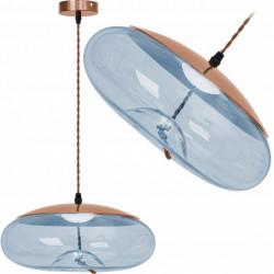 Lampa LED Szklana Niebieska