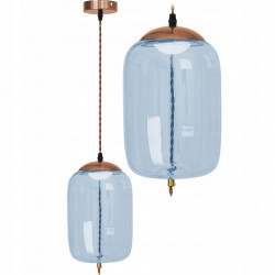 Lampa LED Szklana Niebieska...