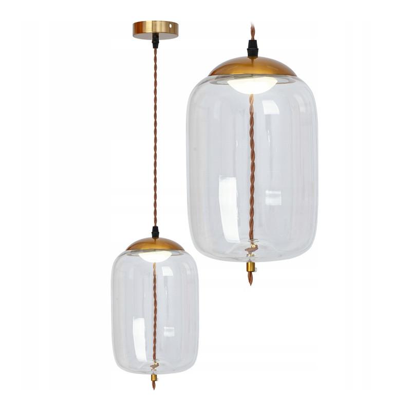 Lampa wisząca LED Szklana Sznur