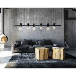 Lampa Sufitowa Wisząca 6-punktowa loft