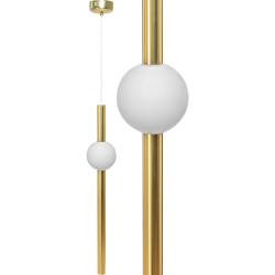 Lampa Sufitowa Wisząca LED Złota Biała kula