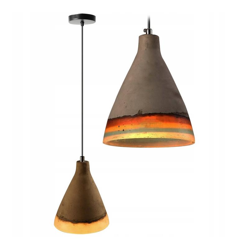 Lampa Sufitowa Wisząca Betonowa Loft