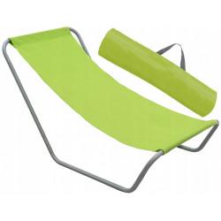 Leżak turystyczny składany zielony + pokrowiec