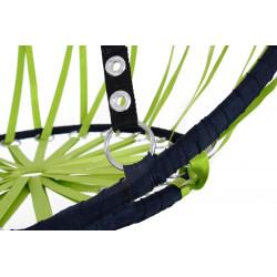 Huśtawka bocianie gniazdo z oparciem – green