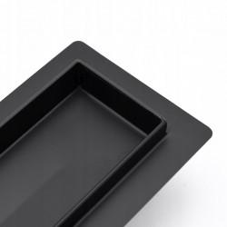 Odpływ prysznicowy liniowy Greek Czarny 80 cm