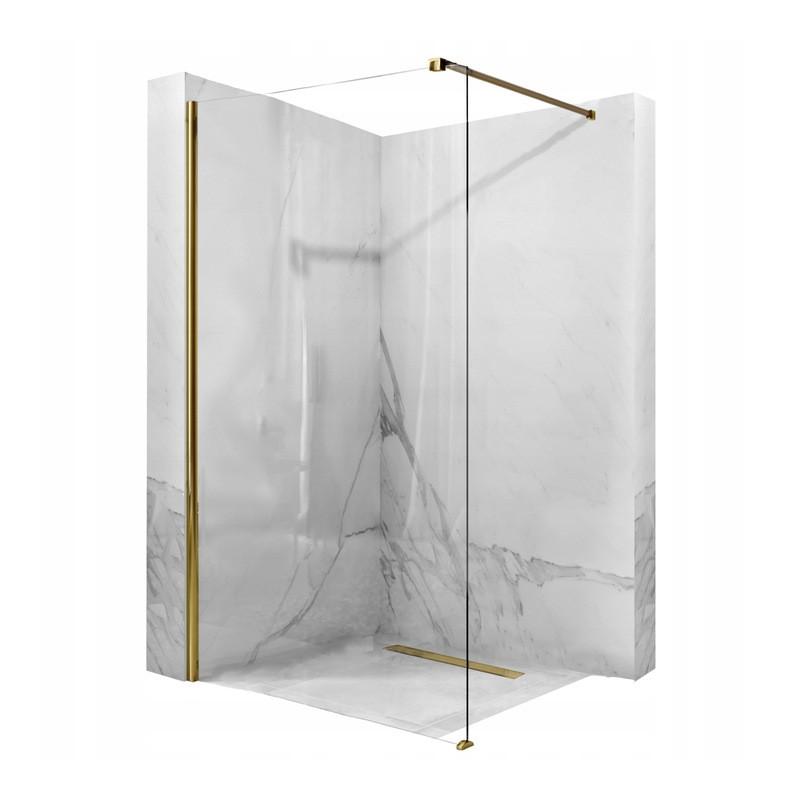 Ścianka prysznicowa Aero Złota 90-120cm