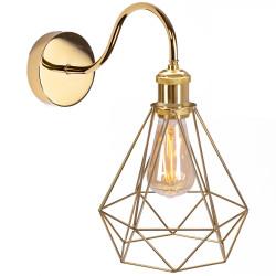 Lampa kinkiet Złoty LOFT Gold