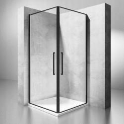 Kabina prysznicowa 80x100 Abra Czarna Rama