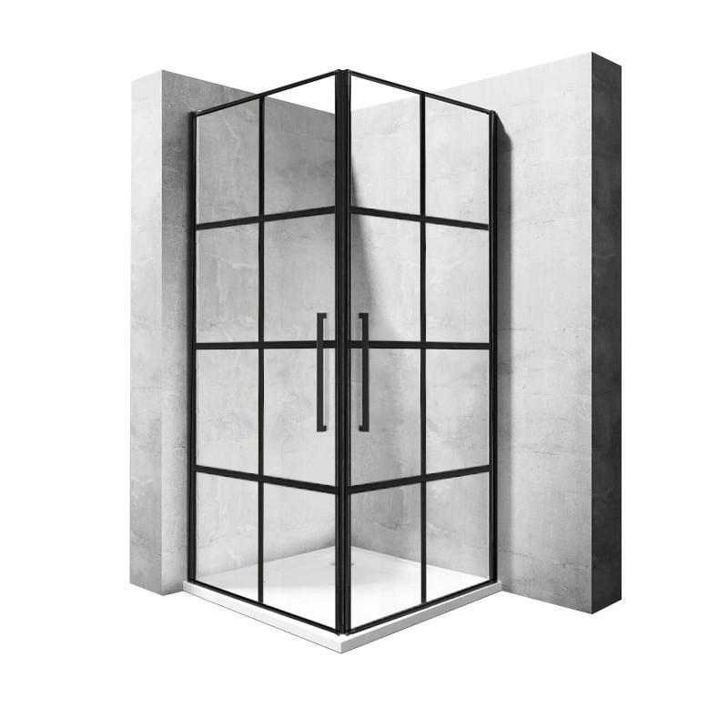 Kabina prysznicowa 90x90 Rubik Czarna Kratka