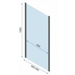 Kabina Prysznicowa Narożna Czarna Rapid Swing Ścianka stała 100 Drzwi 70-150 cm