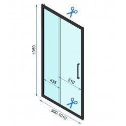 Kabina Prysznicowa Przyścienna Czarna Rapid Slide 2x Ścianka stała 80cm Drzwi 100-160 cm
