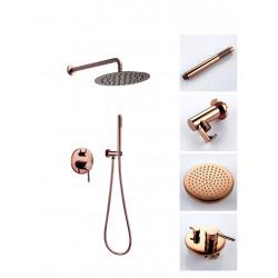 Zestaw prysznicowy Lungo Różowe Złoto podtynkowy + Box