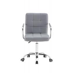 Krzesło Pikowane Szare z...