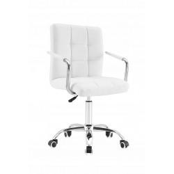 Krzesło Pikowane Białe z...