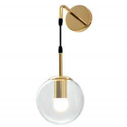 Lampa kinkiet Złoty Szklana...