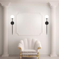 Lampa Kinkiet Czarny Nowoczesny 90 cm