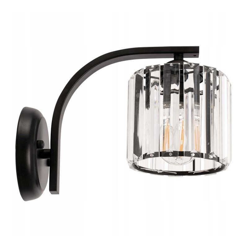 Lampa Kinkiet Kryształowy Czarny