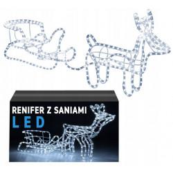 Lampki LED Renifer z Saniami
