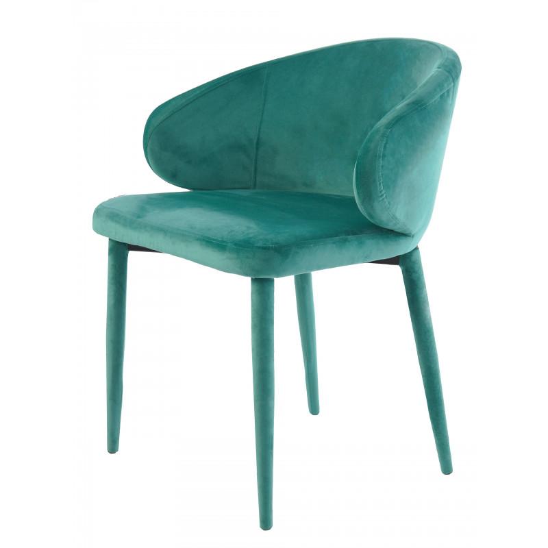 Krzesło Velvet Turkusowe