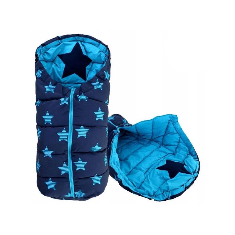 Śpiworek dziecięcy 4w1 Star Navy/Turkus