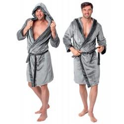 Szlafrok Męski Comfort Grey