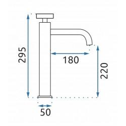 Bateria umywalkowa Vertigo Czarna Wysoka
