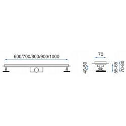 Odpływ prysznicowy liniowy Złoty Pure Neo 70-90 cm