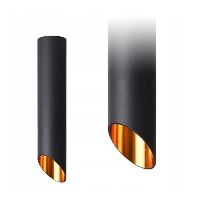Lampa Sufitowa Metalowa Czarn Złota 30cm Gu10