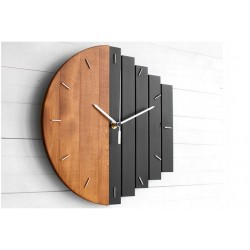 Duży okrągły zegar ścienny loft 50 cm