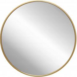 Lustro 40cm Złota Cienka Rama