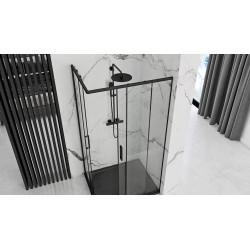 Kabina prysznicowa 90x90 Punto Czarna Rama