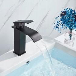 Bateria umywalkowa Lotus Czarna Niska - Calani