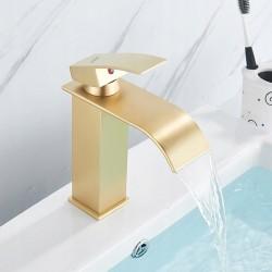 Bateria umywalkowa Lotus Złota Niska - Calani